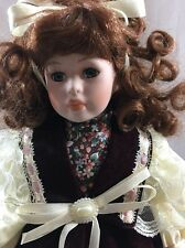 "Jenny Porcelain 15"" Doll - The Leonardo Collection - LP 5216 Curly Hair"