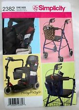 SIMPLICITY Sewing Pattern #2382 SCOOTER & Electric Wheelchair TOTES & BAGS - CUT