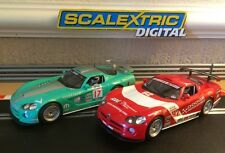 "Scalextric Digital x2 Dodge Vipers Working Front & Rear Lights ""VGC"""