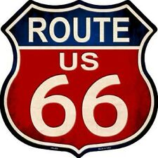 Route 66 Red White Blue Aluminum Metal Novelty Highway Shield Sign