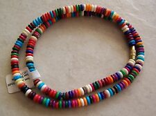 """16"""" Strand Small Dyed Bone Rondelle Beads 5mm Mixed Multi Colored"""