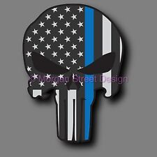 "Yeti Police Blue Lives Matter Punisher 2.75"" Phone Yeti Decal Sticker"