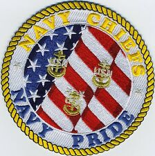 Navy Chiefs Navy Pride - Submarine and Navy - BC Patch Cat No. c7081