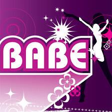 Babe carte d'anniversaire ou toute occasion femmes/filles violet amusant rétro