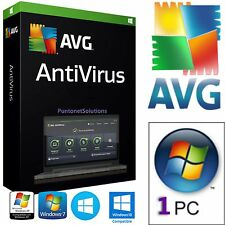 AVG Antivirus 2016 1ANNO 1PC  100% ORIGINALE DURATA VERA