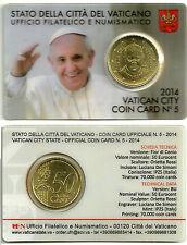 COIN CARD VATICANO 50 CÉNTIMOS 2014