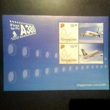 Singapore Airlines SIA A380 First To Fly Miniature Stamp Sheet Oct 2007 MINT