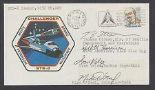 STS-6 Launch Cover signed by 4 NASA Managers: Utsman, Harrison, Velez & O'Neill