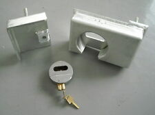 Shipping Container Puck Lock Box & Fitted Lock, Very Heavy Duty, High Security