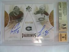 09-10 UD SP AUTHENTIC PRESTIGIOUS PAIRINGS,C. PRICE,S. GOMEZ,PP-GP,76/100.BGS9.5