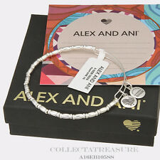 Authentic Alex and Ani Reed Shiny Silver Bangle