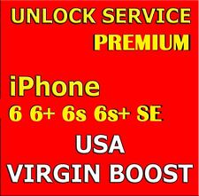 Sprint Virgin Boost Mobile USA Premium Unlock Service IPhone 6 6+ 6s 6s+ SE