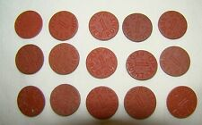Set of 15 Opa Red Point 1 Ration Tokens All Different Letters World War II