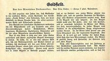 Otto Kühn Goldfield (Nevada) Aus dem Mienenleben Nordamerikas Text-& Bildd.1909