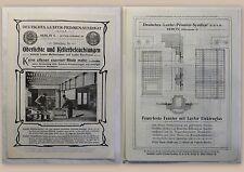 Werbeblatt Deutsches Luxfer-Prismen-Syndikat Oberlichte mit Preisliste um 1910