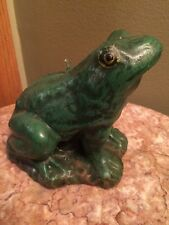 """Boston warehouse frog candle trading Corp 4.5"""" inches tall green"""