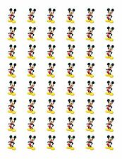 """48 MICKEY MOUSE ENVELOPE SEALS LABELS STICKERS 1.2"""" ROUND"""