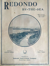 "Rare 1907 Redondo Beach CA Sheet Music ""Redondo by the Sea"" Waltz Showing Pier"