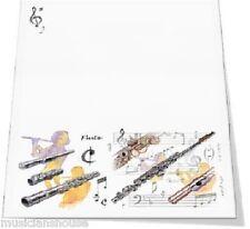 Inclinaison Pad flûte ordinateur portable écrit papier Jotter flûtiste musique présents cadeau idée