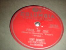 78RPM Columbia 39764 Tony Bennett, Please, My Love / Have a Good Time V-
