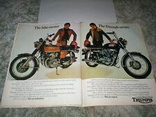 1973 TRIUMPH Trident Picture ad & Honda 750 Four Picture ad Comparison