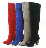 New Fashion Shoes Women's Synthetic over knee High Heel Boots US All Size B011