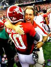 AJ McCarron Autographed/Signed Alabama Crimson Tide 16x20 NCAA Photo with Saban