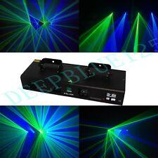4 Lens 300mW Green+Blue DMX DJ Disco Stage Laser Light Party Laser Lighting