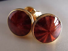 Montblanc Jewellery Etoile Gold Plated Cuff Links Red