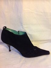 Martin Osvaldo Black Ankle Suede Boots Size 41