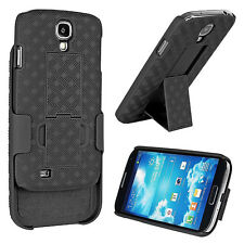 New Black Shell Holster Case Belt Clip Combo + Stand for Samsung Galaxy S4 i9500