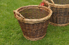 LARGE wicker weave baskets / log basket / kindling basket
