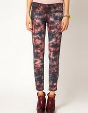 Current Elliott Jeans NEW Womens Stiletto Skinny Ankle Printed Red Black