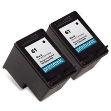 2 HP 61 Ink Cartridge Black CH561WN Deskjet 2050 1000 3050 1050 2540 1510 3050a