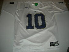 Notre Dame Fightin' Irish #10 Road White sz18/20 Jersey CUSTOMIZE YOUR NAME FREE