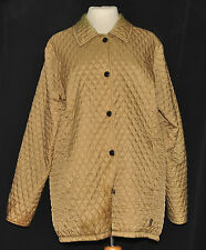 BARBOUR LADIES TAILORED FLYWEIGHT  QUILT QUILTED  SHORT JACKET UK 14 CHAMPAGNE