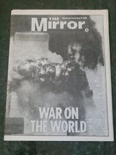 REPRINTED NEWSPAPER - THE MIRROR - SEPT 12 2001 - 9/11 TWIN TOWERS TERRORISM
