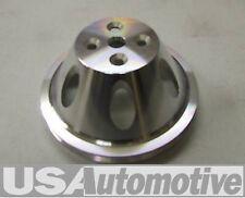 Satin Aluminium big block unique groove court pompe à eau poulie wa8840