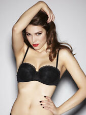 Ann Summers Black Balconette Pure Lace Padded Bra 36C *In Stock*