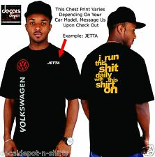 Custom Shirt for VOLKSWAGEN Car Owners Passat Jetta GLX SE PZEV TDI GLI GTI etc.