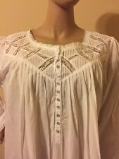 Eileen west nightgown  Nightgown  100% Cotton lawn XLarge  White Gorgeous