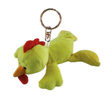 Soft Plush Rooster Chicken Keychain Key Ring Chain Fob Holder Cute Fun Animal