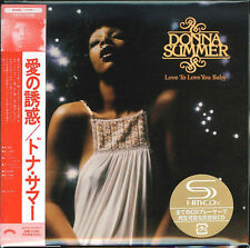 DONNA SUMMER-LOVE TO LOVE YOU BABY-JAPAN MINI LP SHM-CD Ltd/Ed G00