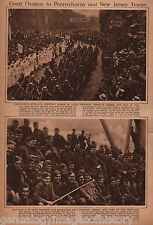 Iron Division 28th & 113th Infantry Comes Home End WWI