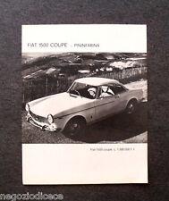 O547 - Advertising Pubblicità -1965- FIAt 1500 COUPE' PININFARINA
