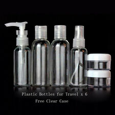 6pcs Travel Size Empty Plastic Makeup Bottles for Travel Business trip