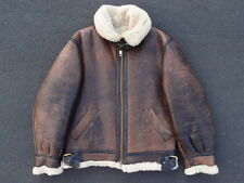 Vintage B-3 Flight Jacket Size 38 M Military USN Shearling Cold Weather Coat