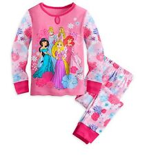 Disney Store Authentic PJ PAL Girls Princess Pajamas PJ's Size 5 NWT!