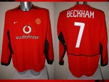 Manchester United Adult XL Umbro Shirt Jersey David Beckham Man Utd Soccer L/S