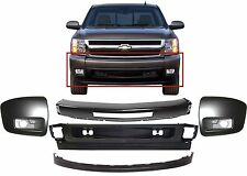 Replacement Front Bumper Combo For 2007-2013 Chevrolet Silverado Paintable New